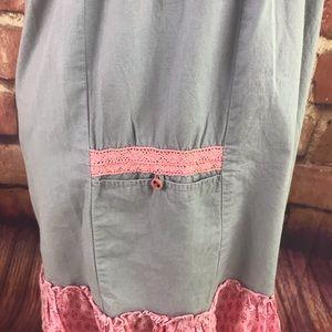 Cream Dresses - Cotton Smocked Peasant Gypsy Boho Dress